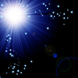 Bright sparkling star Royalty Free Stock Photos