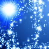 Bright sparkling star Stock Photo