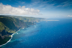 Bright sparkling waters along Molokai island coast Stock Photo