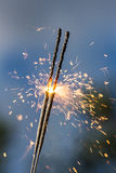 Bright sparks closeup Royalty Free Stock Photography