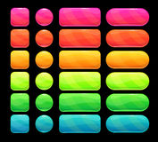 Bright spectrum buttons set. Elements for web or game ui design Royalty Free Stock Photo