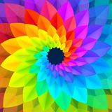 Bright spectrum colors spiral abstract flower vector background stock illustration