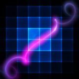 Bright spiral on the screen Royalty Free Stock Photos