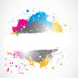 Bright splash grunge design Royalty Free Stock Photos