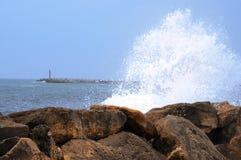 Bright splashes of the sea royalty free stock photos