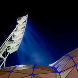 Bright sports light tower Stock Photo