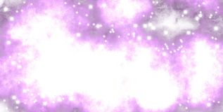 Pink haze, space shiny stars. Bright spots, shiny elements, festive atmosphere, space stars, space haze, pink mist royalty free illustration