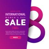 Bright spring banner. International women`s day Stock Photo
