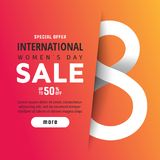 Bright spring banner. International women`s day Royalty Free Stock Photography