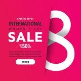 Bright spring banner. International women`s day Royalty Free Stock Images