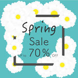 Bright spring banners design. Vector resizable illustration. Stock Images