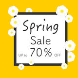 Bright spring banners design. Vector resizable illustration. Royalty Free Stock Photos