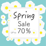 Bright spring banners design. Vector resizable illustration. Stock Image