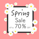Bright spring banners design. Vector resizable illustration. Stock Photo