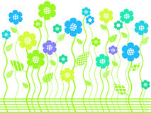 Bright spring flower garden Royalty Free Stock Photography