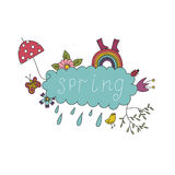 Bright spring pattern Royalty Free Stock Images