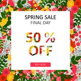 Bright spring sale  background Royalty Free Stock Photos