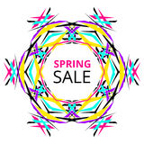 Bright Spring Sale Banner Royalty Free Stock Image