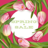 Bright spring sale design. EPS 10 Royalty Free Stock Images