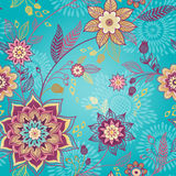 Bright spring seamless pattern with flowers. Stock Image