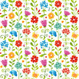 Bright spring seamless pattern with flowers. Royalty Free Stock Photo