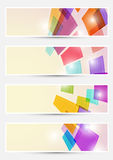 Bright square fly cards collections Royalty Free Stock Photo