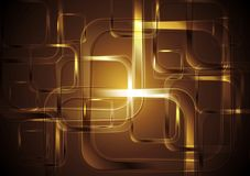 Bright squares abstract tech background Stock Images
