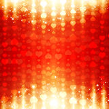 Bright St.Valentine Day Heart Background Royalty Free Stock Images