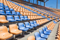 Bright stadium seat Royalty Free Stock Images