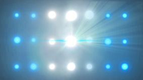 Bright stage dynamic lights flashing stock video footage