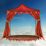 Bright Stage With Red  Theater Curtain Royalty Free Stock Photography