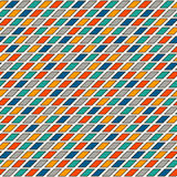 Bright stained glass mosaic background. Vivid seamless pattern with geometric ornament. Checkered surface texture. Stock Images
