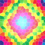 Bright stained glass pattern Royalty Free Stock Image
