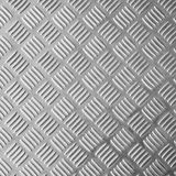 Bright stainless steel floor plate Stock Images