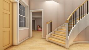 Bright staircase in the modern office 3d rendering Stock Photo