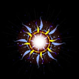 Bright Star Burst Light Effect with Glittering, Glowing Sparkles - Nebula Flare and Glare Stock Images