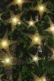 Bright star on a Christmas tree Royalty Free Stock Image