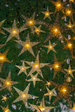 Bright star on a Christmas tree Stock Photo