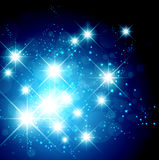 Bright Star Holiday Background. New Year and Christmas Bright Star Holiday Background Royalty Free Stock Photos