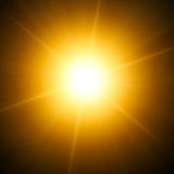 Bright star. Illustration of a bright yellow star Stock Image