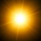 Bright star. Illustration of a bright yellow star Stock Illustration