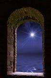 Star ocean stone window Royalty Free Stock Photography