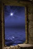 Star ocean stone window Royalty Free Stock Image