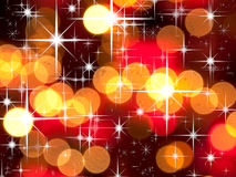 Bright star and red tone bokeh Royalty Free Stock Photo