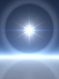 Bright Star with Rings. Extremely Bright Star with Ice Rings Stock Photos
