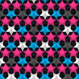 Bright star seamless pattern Royalty Free Stock Image