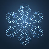 Bright Star Snowflake. Royalty Free Stock Photos