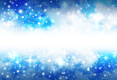 Bright Star Space Background with Sparkles. A very bright, blue star abstract background with sparkles that shine and glow in the night sky. There is a blank Royalty Free Stock Image