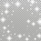 Bright star twinkle glow shimmering frame layout checkered backg. Round. Silver twinkling sparkling beautiful abstract overlay light effect template . Vector Stock Photography