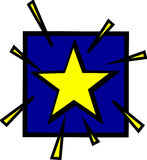bright star vector illustration Stock Images